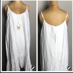 NWT! Lilly P white linen easy fit boho tank dress